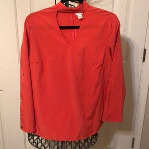 Chico's size 0 peek-a-boo blouse